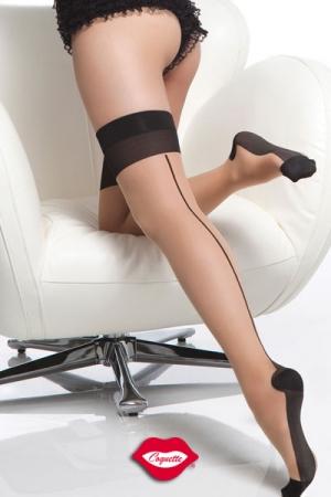 Bas couture Cuban Heel : Bas couture chair et noir, habillez vos jambes d'une touche vintage.
